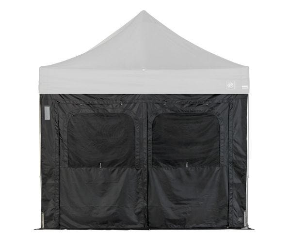 Utility Wall with Doors and Ground Flaps - Black