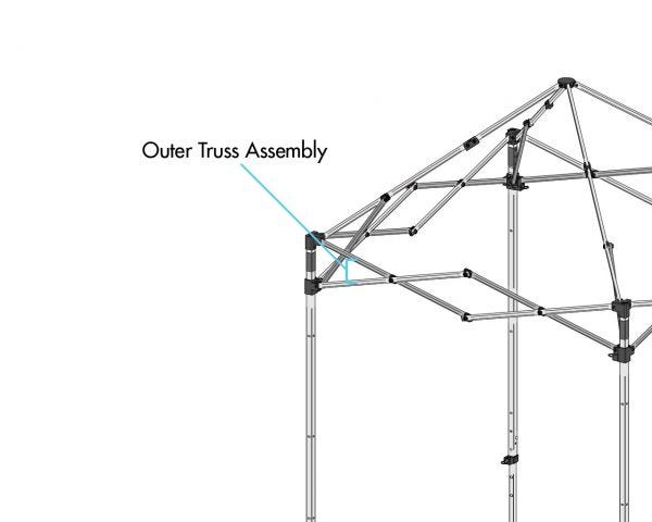 DISCONTINUED Outer Truss Assy, Wht., 5' x 5'