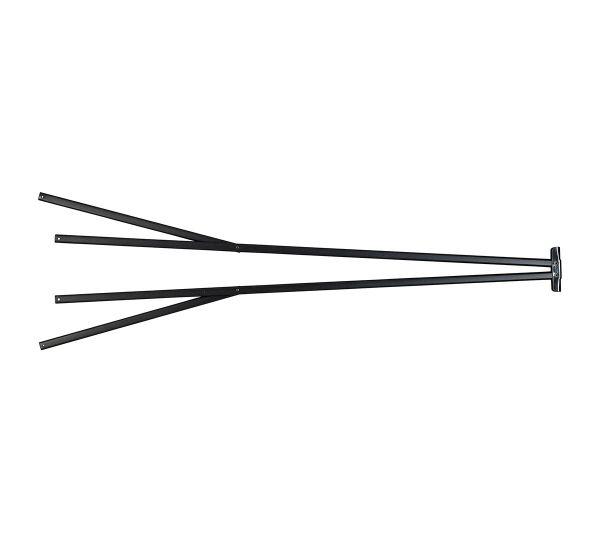 Veranda™ Outer Truss Assembly Dark Brown Powder-Coated Steel