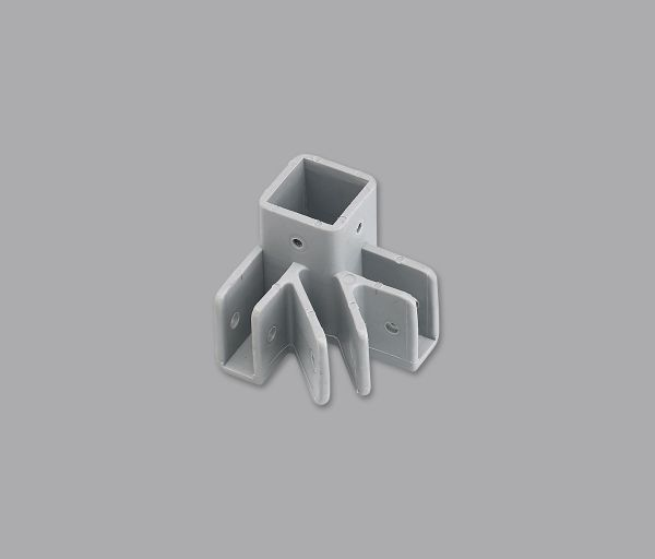 DISCONTINUED Outer Leg End Cap(3) Prong, Grey,5'(1