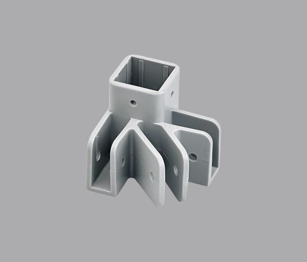 Replacement Outer Leg End Cap Gray Three Prong