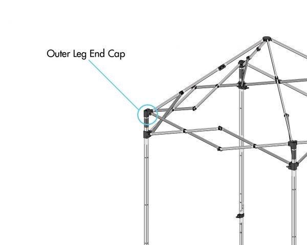 Outer Leg End Cap, Wht., 5' x 5'