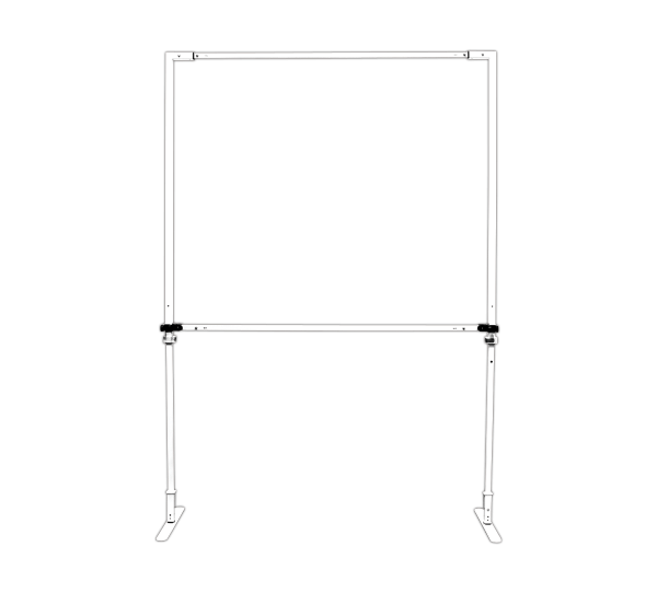 Free Standing Sidewall Hardware, Single Sided 5 ft