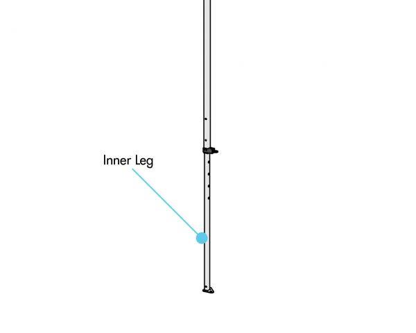 Inner Leg, Wht., 5' x 5'