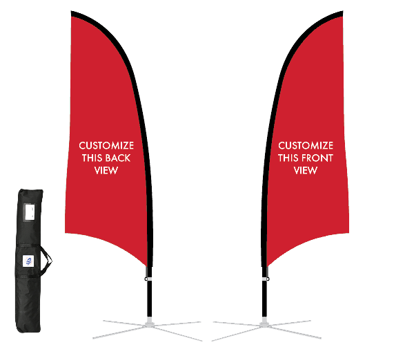11' Blade Sport Flag Kit, DS, Red Fabric,