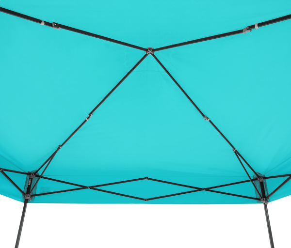 Pyramid Shltr, Stl Gray Frm, 10'(3m), Splash Top,