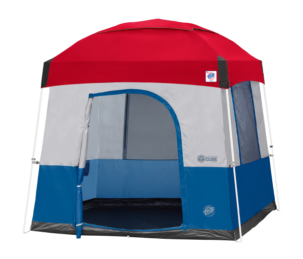 10' Camping Cube Sport (Ryl Bl) w/Red Dome KIT