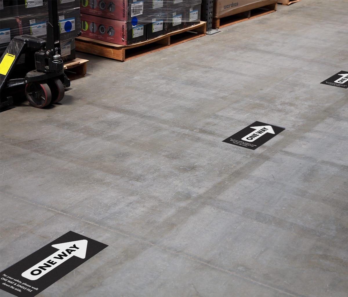 Floor Decal 8.5x18 Rectangle