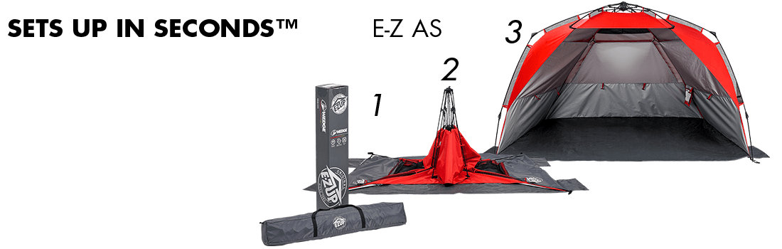 Wedge Tent Sets Up In Seconds